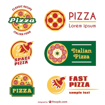 Plantillas de logotipo de pizza