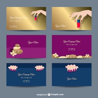 Plantillas de tarjetas de empresa manicura