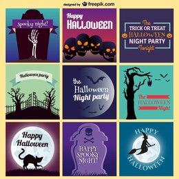 Plantillas para tarjetas de Halloween