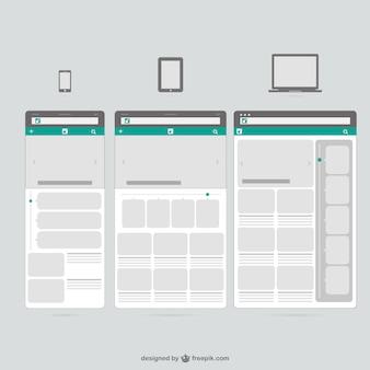 Plantillas Web para dispositivos móviles