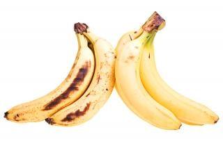 Plátano, comida, maduro