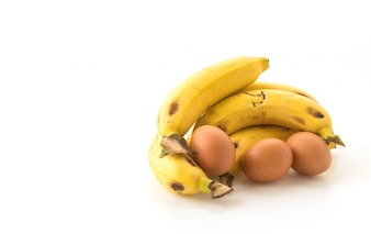Plátano y huevos