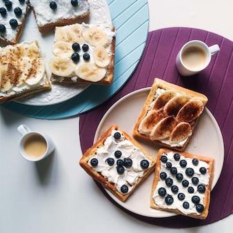 Plátano y queso Desayuno