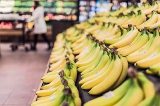 Plátanos en el mercado