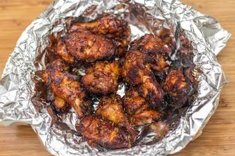 Plato de alitas de pollo