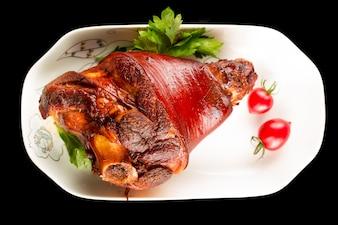 Plato de carne de cerdo