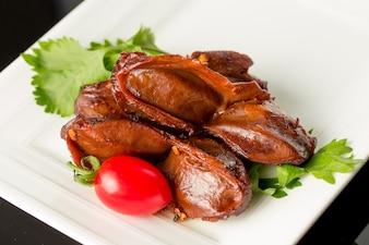 Plato de carne de pato