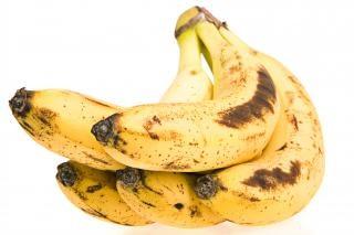 Plátano, fruta madura,
