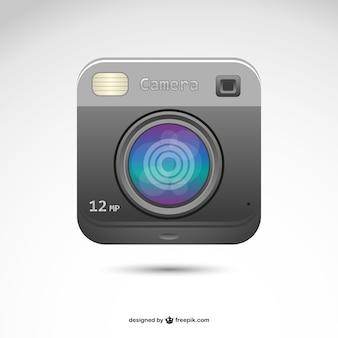 Logo retro de polaroid