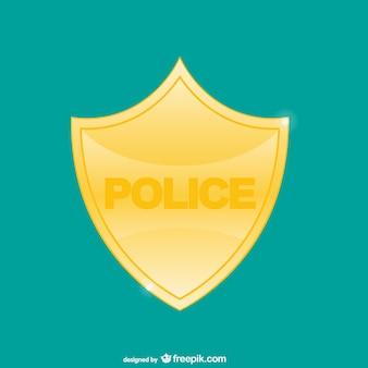 Vector placa de policía amarilla