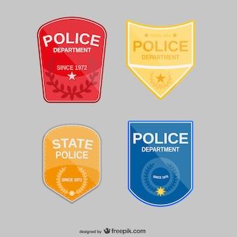 Vector placas de policía