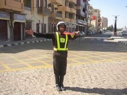 policía de tráfico en Egipto