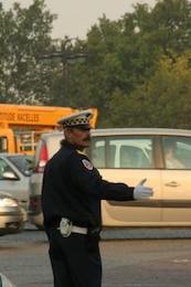 policía de tráfico en París