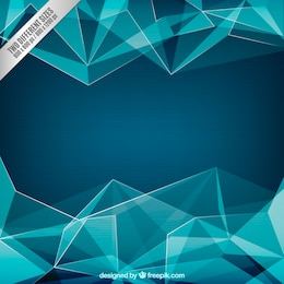 Polígonos Fondo azul