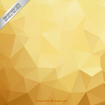 Fondo poligonal en tonos dorados