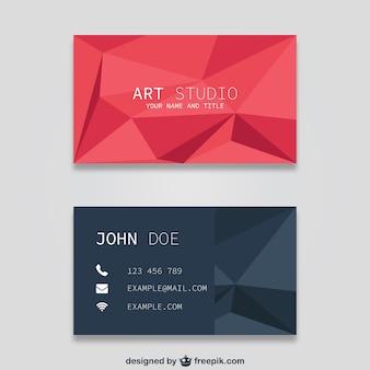 Plantillas de tarjetas poligonales de negocios