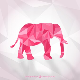 Vector de elefante poligonal