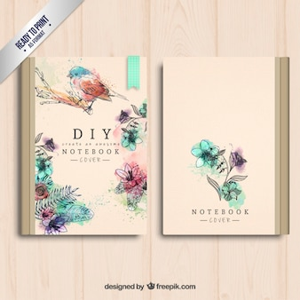 Portada del cuaderno pintada a mano