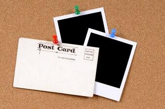 Postal con fotos en blanco