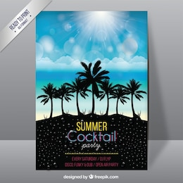 Póster de fiesta cocktail de verano