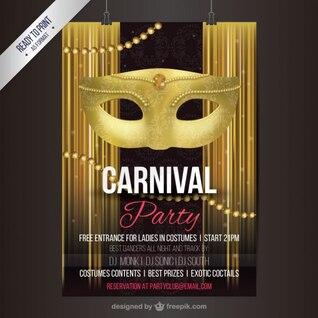 Póster de fiesta de carnaval