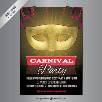 Póster para fiesta de carnaval