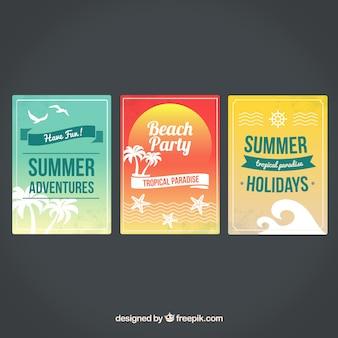 Pósters de tiempo de verano