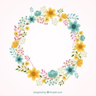 Precioso marco floral