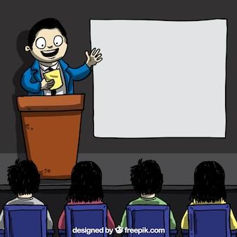 Presentación de negocios de dibujos animados
