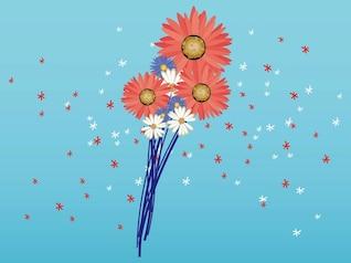 Primavera floral Arreglos florales vector