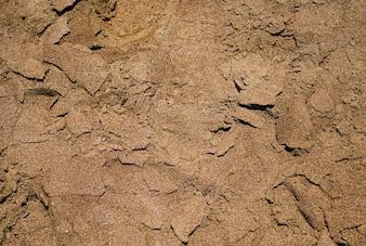 Primer plano de arena de mar