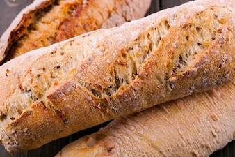 Primer plano de pan integral