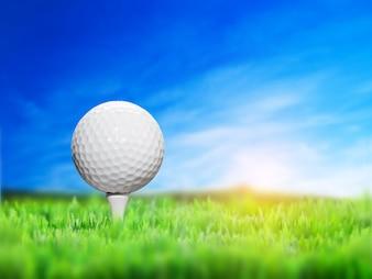 Primer plano de pelota de golf