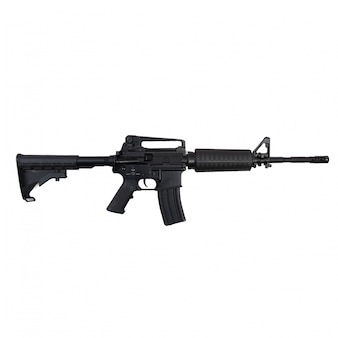 Primer plano de un rifle