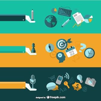 Elementos profesionales vectorial