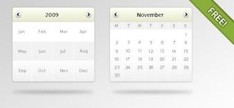 Psd gratis Calendario maqueta