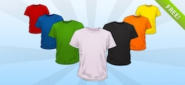 PSD T Shirt Templates Mockup