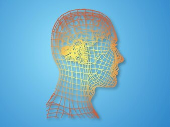 Psicología moderna rasgos faciales vector