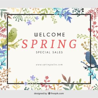 Publicación de facebook floral