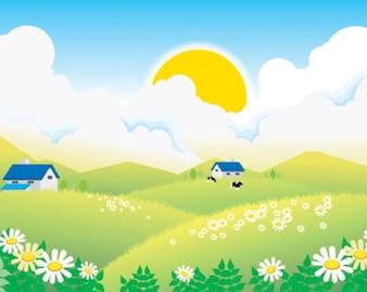 pueblo paisaje de verano