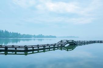 Puente sobre el lago
