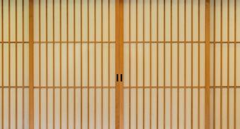 Puerta corredera de papel japonés.