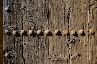 Puerta de madera vintage
