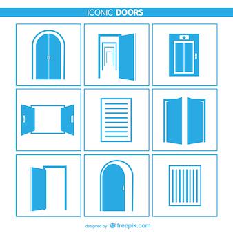 Puertas y ventanas iconos