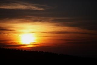 Puesta de sol en Nueva Zelanda St Andrews Hill