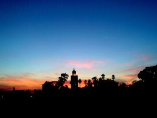 puesta en Marrakech