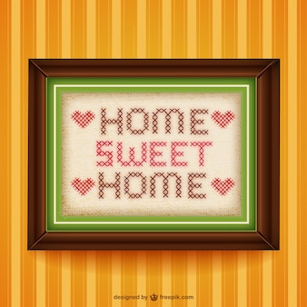 Punto de cruz hogar, dulce hogar