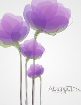 Púrpura resumen de flores de fondo