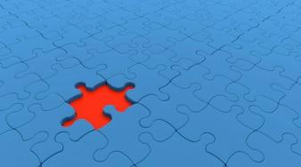 Puzzle azul y rojo