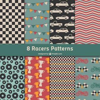 Paquete de patrones de carreras automovilísticas